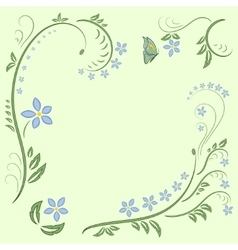 floral ornament design vector image