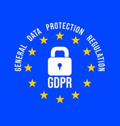 gdpr - general data protection regulation vector image