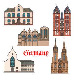 Germany landmarks travel architecture marburg vector