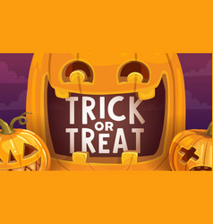 halloween pumpkin lanterns holiday trick or treat vector image