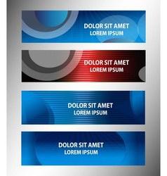 Horizontal Website Banners vector