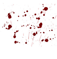 Inky blood splat with a red abstract shape vector