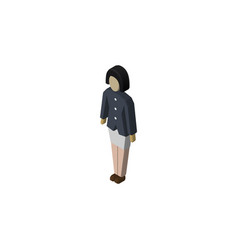 isolated guy isometric girl element can be vector image
