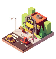 Isometric hardware shop vector