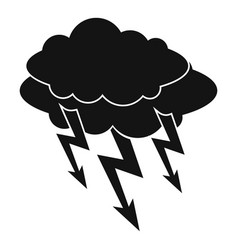lightning bolt icon simple style vector image