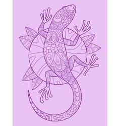Lizard color drawing vector image