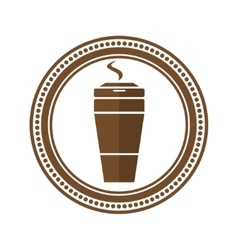 Logo coffee cup in a flat style vector