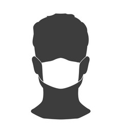 man in a medical mask a simple image to protect vector image
