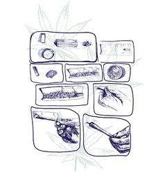 Marijuana joint preparing vector