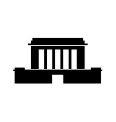 Mausoleum free-standing monument building vector