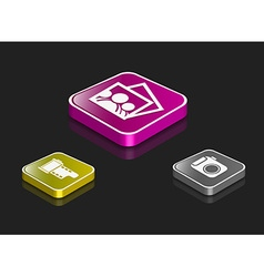 Media icon series set vector image