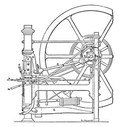 minting press from royal mint side view vintage vector image