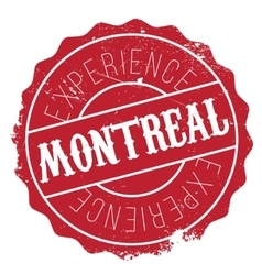 Montreal stamp rubber grunge vector