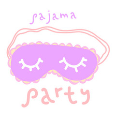 Pajama party poster cover or banner for a fun vector