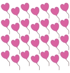 pink heart lovely valentine day seamless pattern vector image