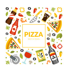 pizza banner template traditional italian food vector image