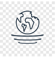 Planet earth concept linear icon isolated on vector
