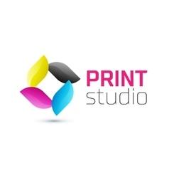 Print studio logo CMYK logo vector image