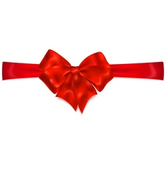 bow horizontal red ribbon vector images over 500