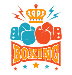 Retro boxing logo vector