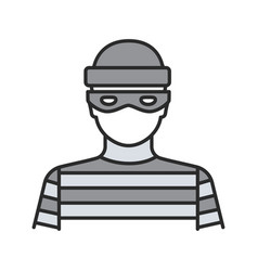 robber color icon vector image