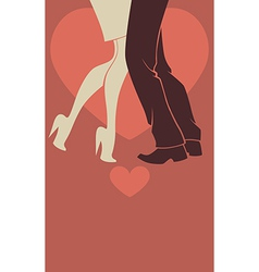 romantic dancing vector image
