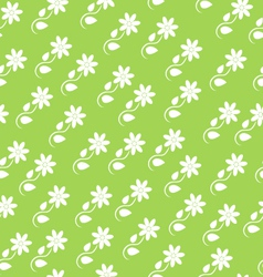 Seamless background with silhouettes of flowers vector image