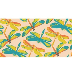 Seamless pattern with hand drawn watercolor vector image