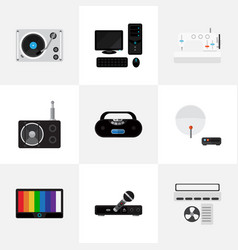 Set of 9 editable home flat icons includes vector