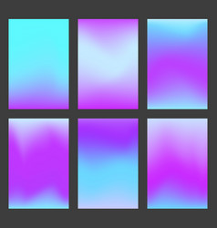 Set of calm blue and violet gradient ui background vector