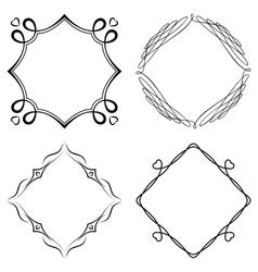 Set of nice decorative frames vector image