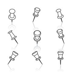 Set pushpins vector