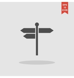 signpost icon Flat design style vector image