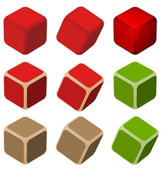 Simple color cubes vector