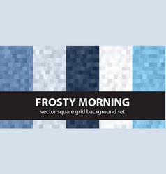square pattern set frosty morning seamless vector image