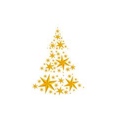 stars christmas tree vector image