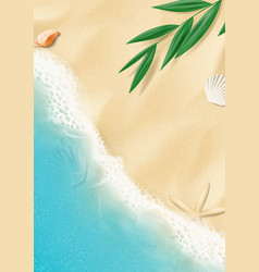 summer background with top view on beach vector image