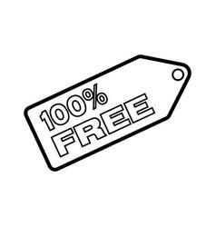 Thin line 100 free icon vector