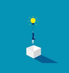 Think outside box concept business idea vector
