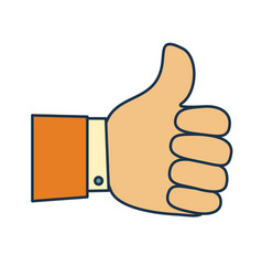 thumb up symbol finger up icon vector image