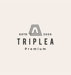 triple a hipster vintage logo icon vector image