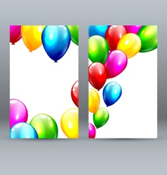 Two Celebration Greet Cards with Inflatable vector image