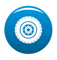Tyre icon blue vector