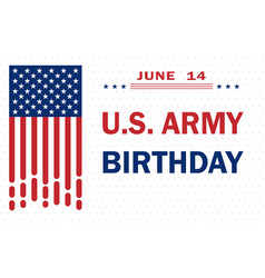 Us army birthday - patriotic holiday vector
