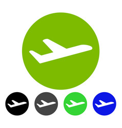 Valid airplane departure flat icon vector