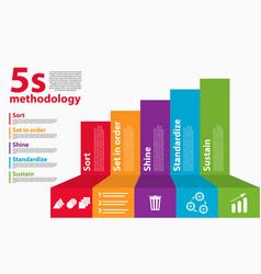 workplace organization 5s methodology sort vector image