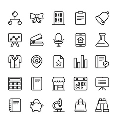 Business Icons 7 vector image vector image
