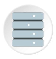 Data storage icon flat style vector