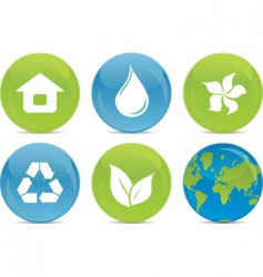 ecological icons vector image vector image
