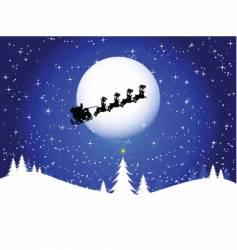Santa in the sky vector image